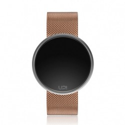 CEAS UPWATCH ROUND STEEL ARGINTIU SI ROSE GOLD