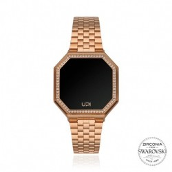 CEAS DE DAMA UPWATCH EDGE MINI SET WITH SWAROVSKI® ZIRCONIA MATTE ROSE GOLD