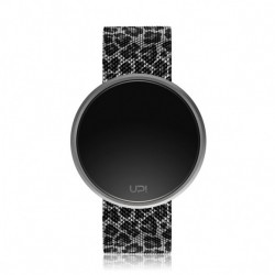 CEAS UPWATCH ROUND ARGINTIU CU ANIMAL PRINT