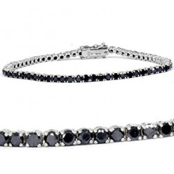 Bratara Tenis Argint 925 Rodiat Negru Cubic Zirconia Diamond