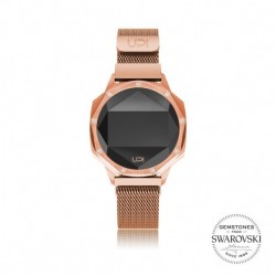 CEAS DE DAMA UPWATCH ICONIC ROSE GOLD CUREA MESH SI DIAMANTE TOPAZ SWAROVSKI
