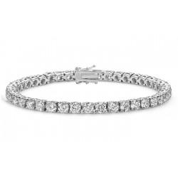 Bratara Tennis Argint 925 Rodiat 0.4 cm cu Diamante Cubic Zirconia Albe Round Cut