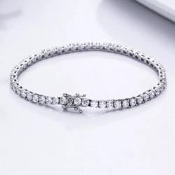Bratara Tennis Argint 925 Rodiat  0.3 cm cu Diamante Cubic Zirconia Albe Round Cut