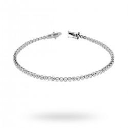 Bratara Tennis Argint 925 Rodiat 0.2 cm cu Diamante Cubic Zirconia Albe  Cipollina Cut