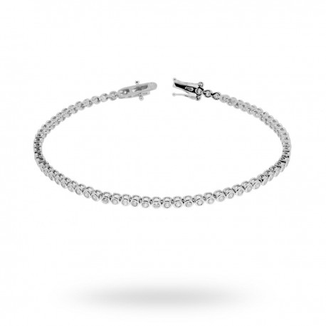 Bratara Tenis Argint 925 Rodiat 0.2 cm cu Diamante Cubic Zirconia Albe  Round Cut