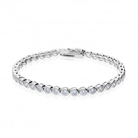 Bratara Damă Tennis Argint 925 Rodiat 0.4 cm cu Diamante Cubic Zirconia