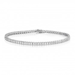 Bratara Tennis din Argint 925 Rodiat  0,2 cm cu Diamante  CZ Albe Pricess Cut