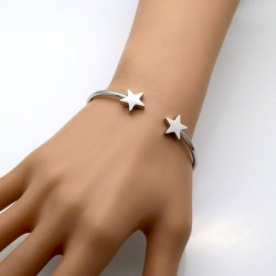 BRATARA THINK POSITIVE BANGLE CU STELE