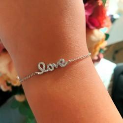 "BRATARA DIN ARGINT 925 CU SCRIS ""LOVE"""