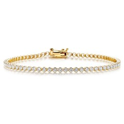 Bratara dama Tennis Argint 925 Rodiat Auriu Cubic Zirconia Diamond