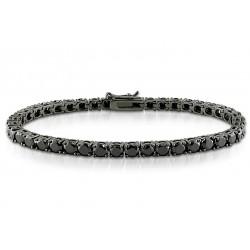 Bratara Unisex Tenis Argint 925 Rodiat Black Cubic Zirconia Diamond